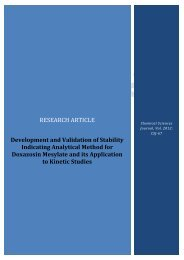 Development and Validation of Stability Indicating ... - AstonJournals
