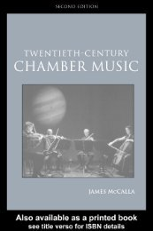 Twentieth-Century Chamber Music -- James McCalla