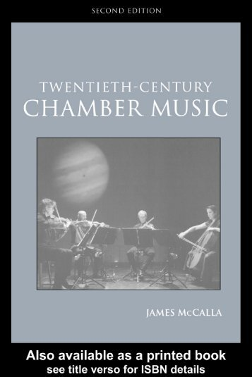 Twentieth-Century Chamber Music -- James McCalla