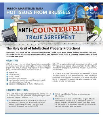 Read Burson-Marsteller's Hot Issue on Anti-Conterfeit Trade ...
