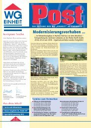 Post - WG Einheit Chemnitz > Wohnen im Süden