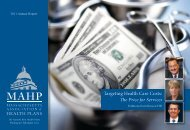Massachusetts Association of Health Plans 2011 Annual ... - MAHP