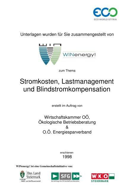 Stromkosten, Lastmanagement und Blindstromkompensation - WIN