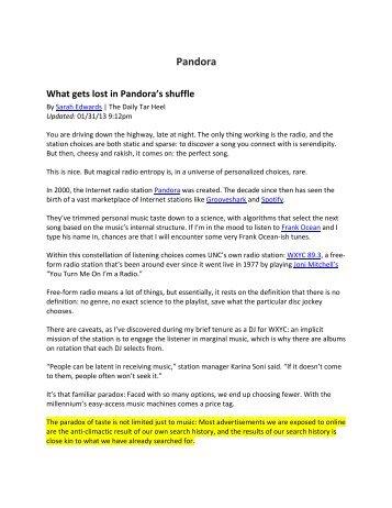 Pandora - Katz Marketing Solutions   Radio Advertising   Media ...