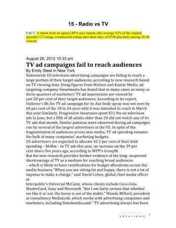 Radio vs TV - Katz Marketing Solutions | Radio Advertising | Media ...
