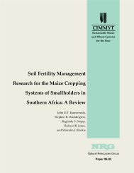 Soil fertility management research for the maize cropping systems of ...