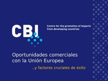 Oportunidadescomercialescon la Unión Europea CBI - Cámara de ...