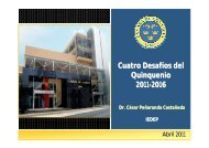 Señor César Peñaranda Castañeda, Director ejecutivo del IEDEP ...