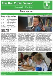 Week 41 [pdf, 1 MB] - Old Bar Public School