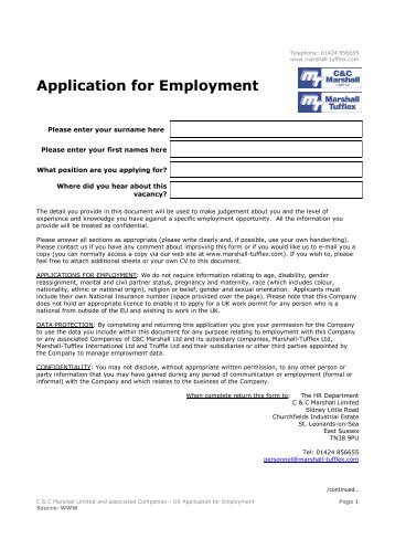 marshalls coaches llp application form diesel mechanic