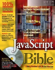 JavaScript Bible , 5th Edition