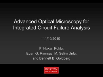 Advanced Optical Microscopy for Integrated Circuit ... - DCG Systems