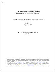 A Review of Literature on the Economics of Invasive ... - ResearchGate