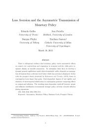 Loss Aversion and the Asymmetric Transmission of Monetary Policy