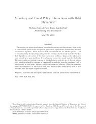 Monetary and Fiscal Policy Interactions with Debt Dynamics