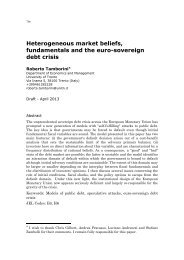 Heterogeneous market beliefs, fundamentals and the euro ...