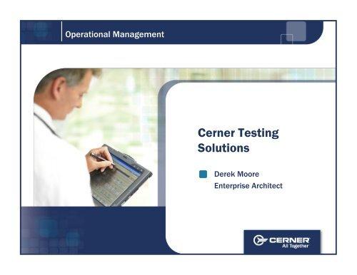Cerner Testing Solutions - Digital Concourse