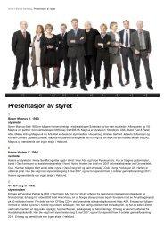 Presentasjon av styret - Hafslund