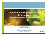 Digital Marketing Dashboard Framework Using ... - BI User Group