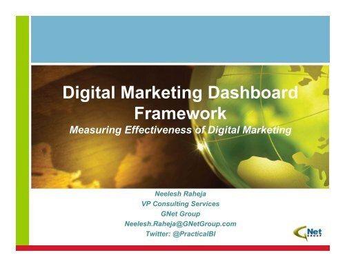 Digital Marketing Dashboard Framework Using     - BI User Group