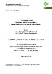 """""""Testung von EM (effektive Mikroorganismen) als - Multikraft"""