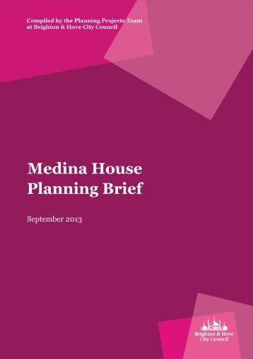 Medina House Planning Brief Adopted version final
