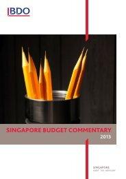 BDO Budget Commentary 2013 - bdo singapore
