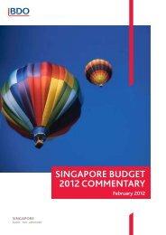 SINGAPORE BUDGET 2012 COMMENTARY - bdo singapore