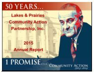 2012 Annual Report - Lakes & Prairies Community Action Partnership