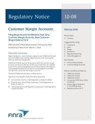 Regulatory Notice 10-08 - finra