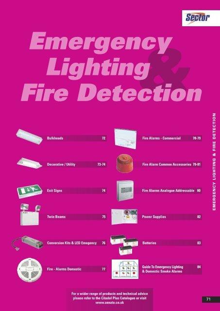 Emergency Lighting Fire Detection - WF Senate