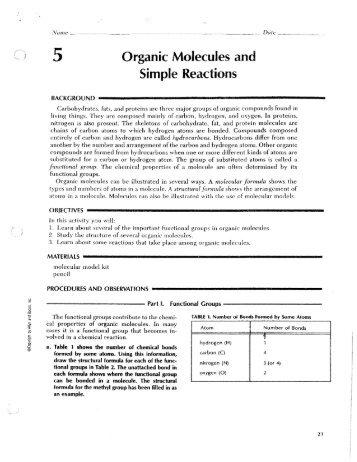 Biological Molecules - 1 Molecules of Living Organisms We have ...