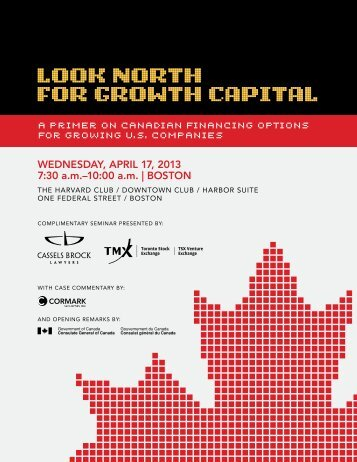 Look North for Growth CapitaL - Cassels Brock & Blackwell LLP