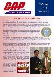 Newsletter Winter 2011 - GAP Group
