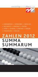 ZAHLEN 2012 SUMMA SUMMARUM - Stadt Wesseling