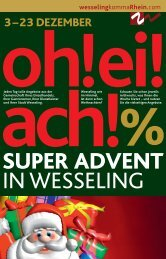 23 DEZEMBER % oh!ei! ach ... - Stadt Wesseling