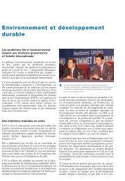Environnement et développement durable - Europa