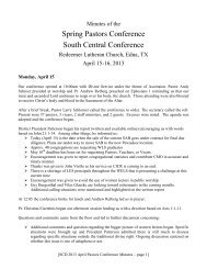 April Pastoral Study Conference - The South Central District