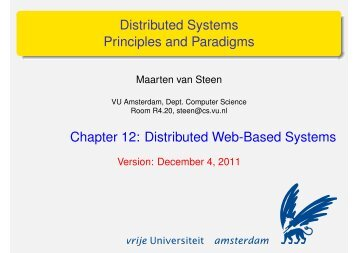 Distributed Web-Based Systems - Maarten van Steen