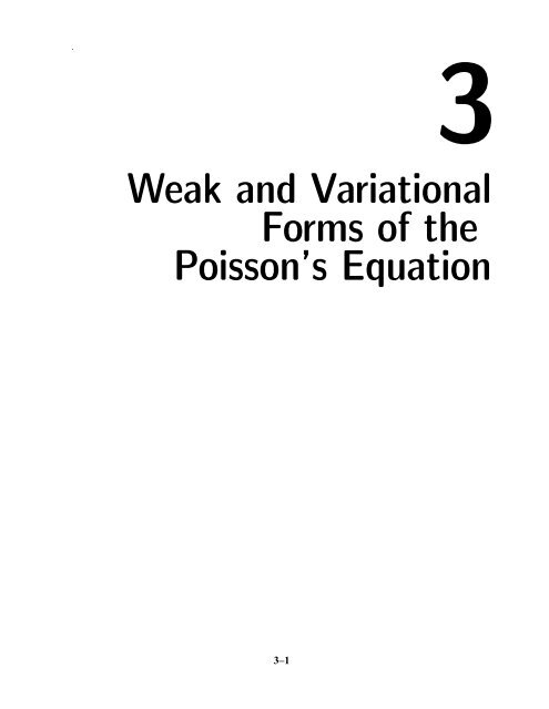 3 Weak and Variational Forms of the Poisson's Equation