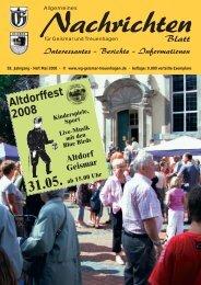 Blatt Interessantes - Berichte - Werbegemeinschaft Geismar ...
