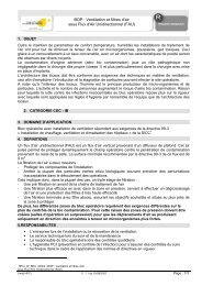BOP : Ventilation et filtres d'air sous Flux d'Air Unidirectionnel ... - HPCI