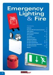 Emergency Lighting & Fire - WF Senate