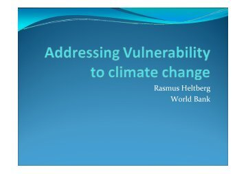 Addressing Vulnerability to Climate Change