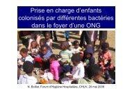 Prise en charge d'enfants colonisés par différentes bactéries dans ...