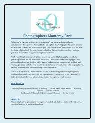 Photographers Monterey Park