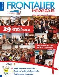 Frontalier magazine N° 109 - Avril 2012 - Groupement transfrontalier ...