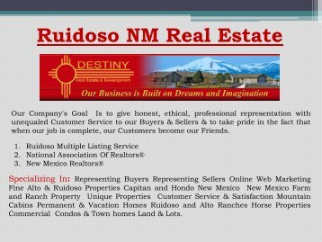 Ruidoso NM Real Estate