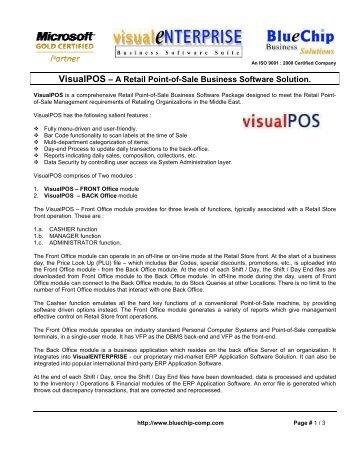VisualPOS – A Retail Point-of-Sale Business Software Solution.