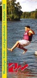 und Jugendkalender 2. Halbjahr 2008 - Stadt Wesseling